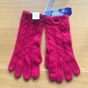 NWT Pendleton 100% cashmere gloves